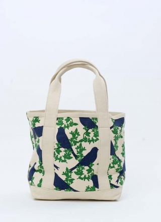 Small Tote Bag Goldfinch - Green/Navy