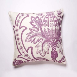 Broderie Cushion - Violet