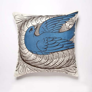 Florish Cushion - Aqua
