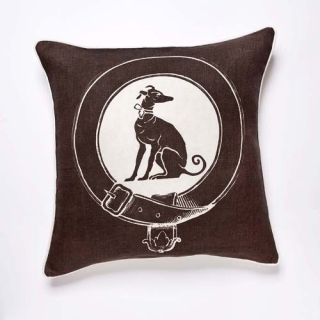 Greyhound Cushion - Moccha
