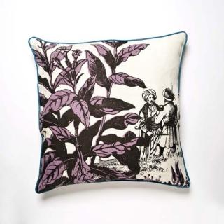 Herbarium Violet Cushion