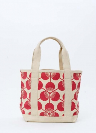 Small Tote Bag Kabuki - Red