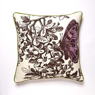 Metamorphasis Violet Cushion