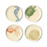 Sea Life - Set of 4 Dessert Plates