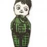 Antique Toy Pillow - Boy - Green